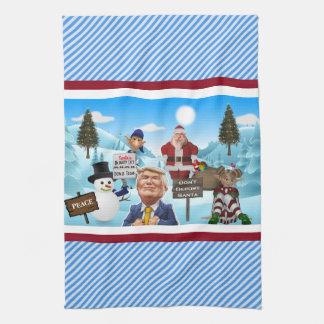 Der Nordpol protestiert Trumpf-Küche Handtuch