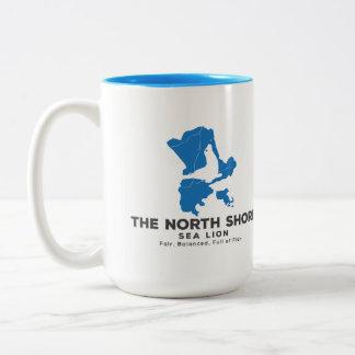 Der Nordufer-Seelöwe-Getränkebehälter Zweifarbige Tasse