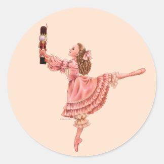 Der Nussknacker-Ballett-Aufkleber Runder Aufkleber