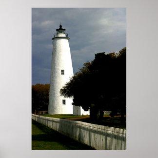 Der Ocracoke Insel-Leuchtturm Plakatdrucke
