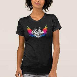 Der offizielle LaughingGurl Regenbogen Wings Logo T-Shirt