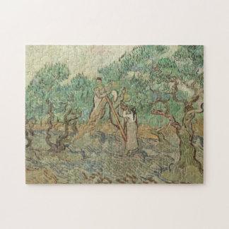 Der olivgrüne Obstgarten Puzzle