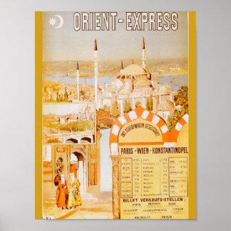 Der Orientexpress von Paris Poster