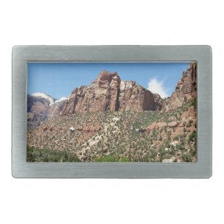 Der Osttempel Zion Nationalpark in Utah Rechteckige Gürtelschnallen