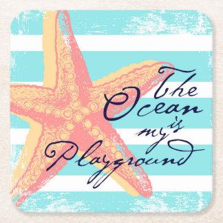 Der Ozean ist mein Spielplatz Rechteckiger Pappuntersetzer