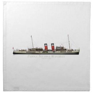 Der Paddel-Dampfer Waverley durch Tony Fernandes Stoffserviette