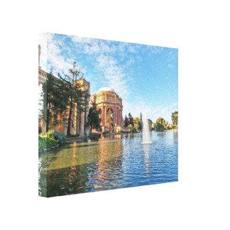 Der Palast der schöner Künste Kalifornien Leinwanddruck