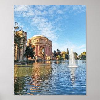 Der Palast der schöner Künste Kalifornien Poster
