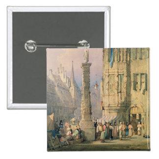 Der Palast des Bischofs, Würzburg Quadratischer Button 5,1 Cm