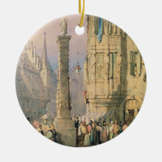 Der Palast des Bischofs, Würzburg Rundes Keramik Ornament