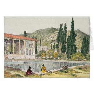 Der Palast und die Gärten von Ashref, Persien, Karte