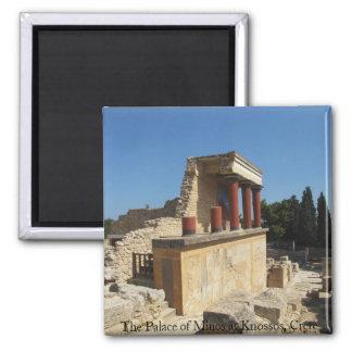 Der Palast von Minos bei Knossos, Kreta, Quadratischer Magnet