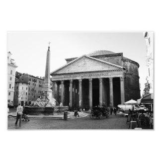 Der Pantheon in Rom, Italien Fotodruck