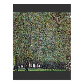 Der Park durch Gustav Klimt Postkarte