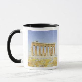 Der Parthenon, c.1834 (w/c über Bleistift auf Tasse