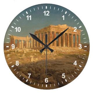 Der Parthenon Große Wanduhr