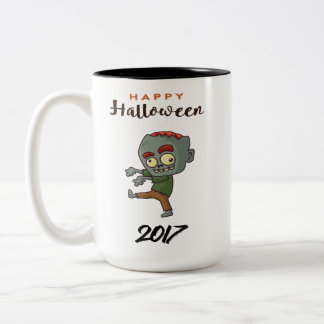 Der Party-Halloween-Feier-Feiertag bunt schaffen Zweifarbige Tasse