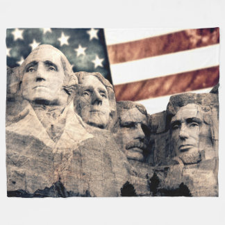 Der patriotische Mount Rushmore Fleecedecke