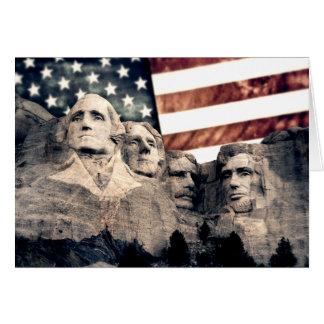 Der patriotische Mount Rushmore Karte