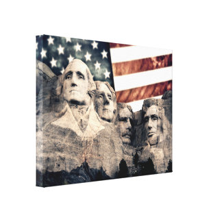Der patriotische Mount Rushmore Leinwanddruck