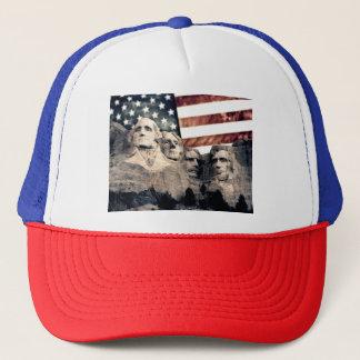 Der patriotische Mount Rushmore Truckerkappe