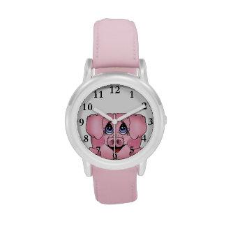 Der Peekaboo-Piggy Uhr des Kindes