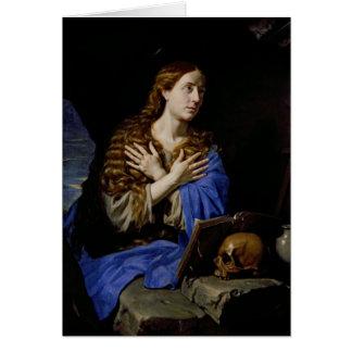 Der Penitent Magdalene, 1657 Grußkarte