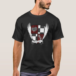 Der pensionierte Uni-Athleten-Wappen-T - Shirt