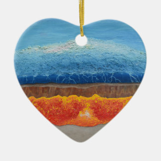 Der perfekte Sturm Keramik Herz-Ornament