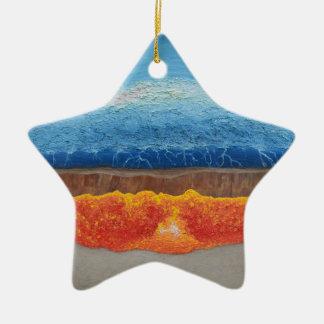 Der perfekte Sturm Keramik Stern-Ornament