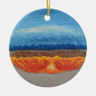 Der perfekte Sturm Rundes Keramik Ornament