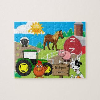 Der personalisierte Bauernhof des Kindes Puzzle