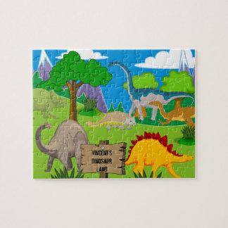 Der personalisierte Dinosaurier des Kindes Puzzle