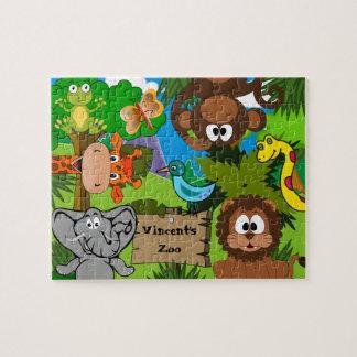 Der personalisierte Zoo des Kindes Puzzle
