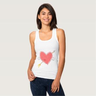 Der Pfeil des Amors durch den Behälter der Winged T-Shirts