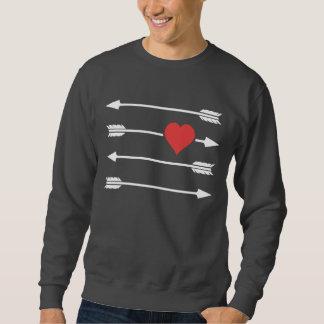 Der Pfeil-Valentinstag-Herz des Amors Sweatshirt