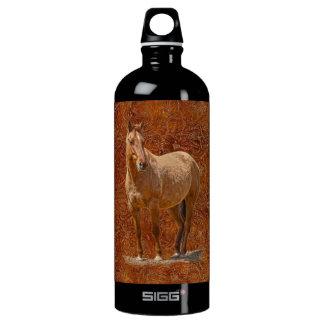 Der pferdeartige Entwurf roter Dun Pferd-Liebhaber Aluminiumwasserflasche