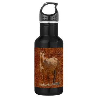 Der pferdeartige Entwurf roter Dun Pferd-Liebhaber Edelstahlflasche