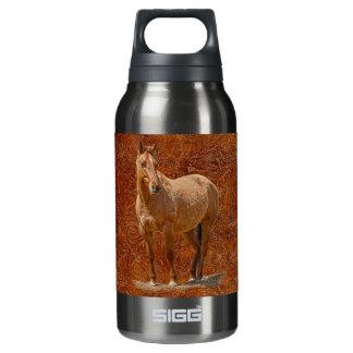 Der pferdeartige Entwurf roter Dun Pferd-Liebhaber Isolierte Flasche