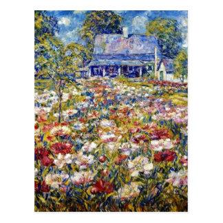 """""""Der Pfingstrosen-Garten"""" Postkarte"""