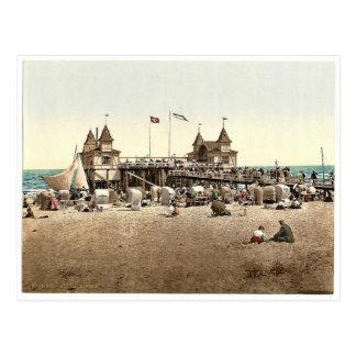 Der Pier, Ahlbeck, Pommeraina sic, Deutschland Postkarte