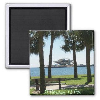 Der Pier St Petersburg Florida Quadratischer Magnet