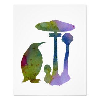 Der Pinguin und der Pilz Fotodruck
