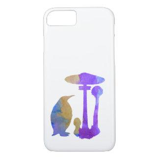 Der Pinguin und der Pilz iPhone 8/7 Hülle