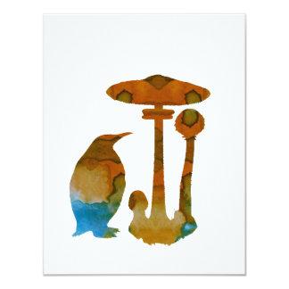 Der Pinguin und der Pilz Karte