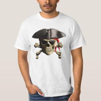 Der Piratenflagge-Piraten-Schädel T-Shirt