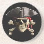 Der Piratenflagge-Piraten-Schädel Getränke Untersetzer