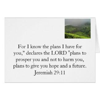 Der Plan des Gottes für Sie Karte