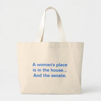 """""""Der Platz einer Frau ist im Haus. Und der Senat Jumbo Stoffbeutel"""