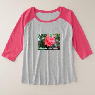 Der Plus-Size der Frau 3/4 Hülseraglan-T - Shirt